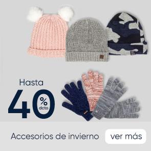 Accesorios Invierno hasta 40%