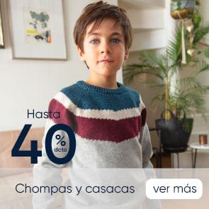 Chompas y Casacas hasta 40%