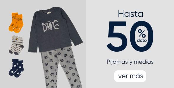 Pijamas y medias hasta 50%